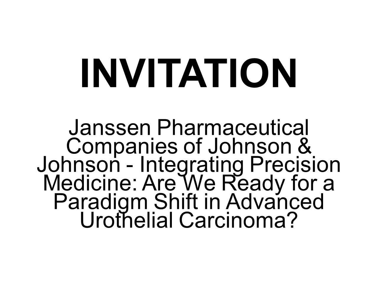 Janssen Integrating Precision Medicine