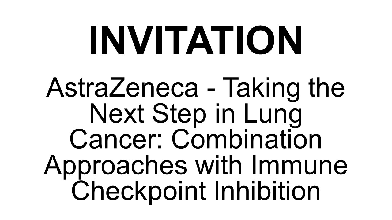 AstraZeneca - Taking the next step in lung cancer