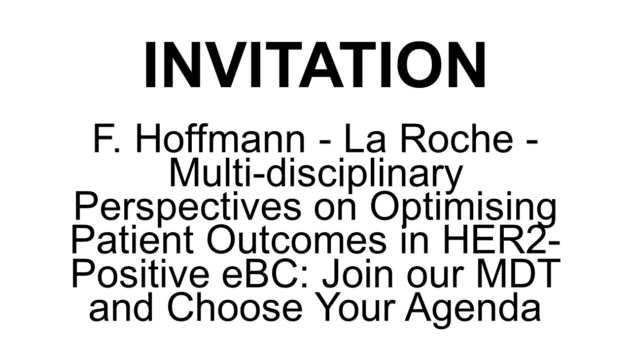 F. Hoffmann - La Roche Multi-Disciplinary Perspectives on Optimising