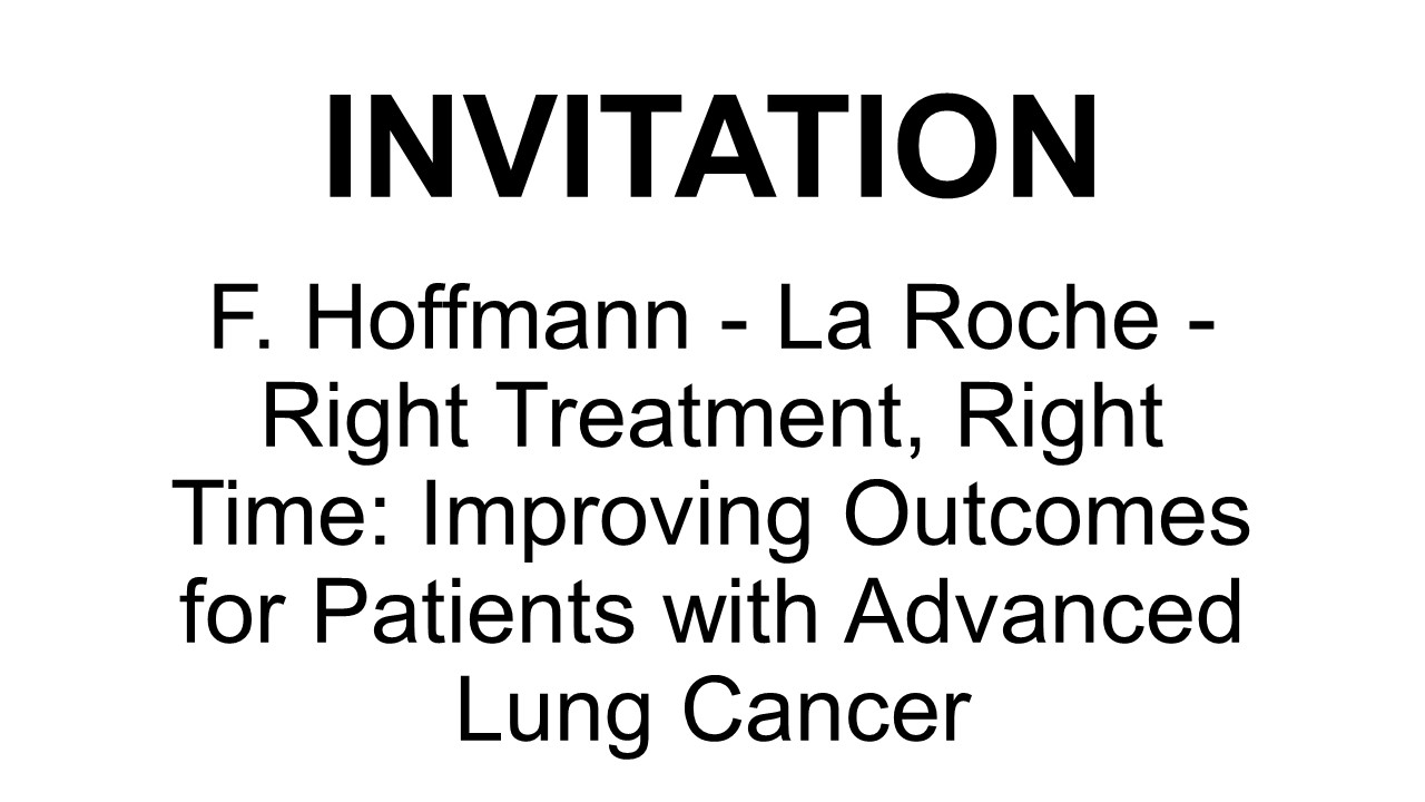 F. Hoffmann - La Roche - Right treatment, right time